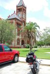 Dewitt County Courthouse, Cuero, Texas, with Coco